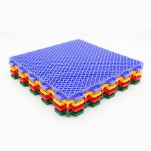 悬浮式拼装地板新款软质双层大米格上市效果绝佳批发零售图片