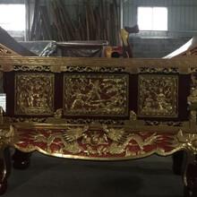 高唐县制造木雕元宝桌服务至上,供桌图片