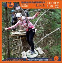 厂家定制丛林穿越设施树上探险乐园飞跃丛林设施树上拓展项目