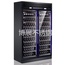 高档玫瑰金不锈钢恒温酒柜红酒架定制供应厂家图片