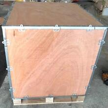 江门专业生产钢带木箱信誉保证钢带包边木箱图片