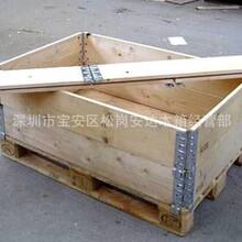 广州专业定制钢带木箱哪家比较好钢带包边木箱钢带木箱图片