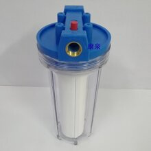 銅接口透明單筒管道凈水器/大流量前置過濾器/4分6分1寸三種口徑圖片