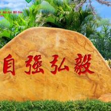 淮南專業從事村牌路標石廠家匯智奇石場村牌路標石圖片