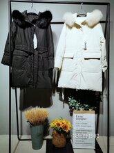 广州品牌折扣女装库存商品时尚修身基础款羽绒服尾货批发走份货源图片