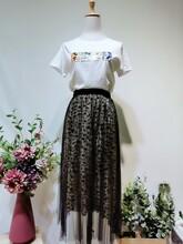 廣州修身繭型淑女不規則小花連衣裙品牌折扣女裝尾貨批發圖片