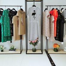 广州经典风格知性连衣裙品牌折扣女装批发大码