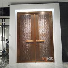 北京、上海高端定制Mulas慕拉斯ML305水波纹铜门、轻奢极简入户门图片