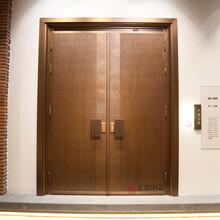 匯盈銅藝現代簡約款銅門XD-106、真銅門、別墅入戶門圖片
