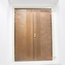 慕拉斯手工锻打铜门ML101、别墅双开门、自建房对开铜门招商图片