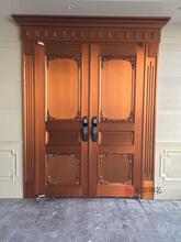 汇盈铜门欧式双开铜门、简欧紫铜门、别墅对开铜门全国招商合作图片
