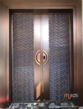 Mulas慕拉斯铜门厂家新中式铜门定制、别墅对开铜门招商、直销图片