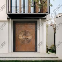 mulas慕拉斯ML705藝術之光純手工鍛打對開銅門、別墅銅門定制圖片