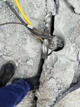 裂石機巖石破碎電動巖石破石機桂林供貨商圖片