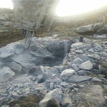 修高速路遇到石头静态劈裂机开石七台河行情价格图片
