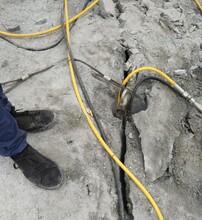 随州沟渠挖掘破很硬石头机器液压顶石机怎么样图片
