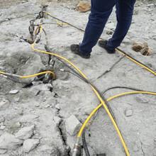 石方工程專業靜態開裂機代替爆破威海市場走向圖片