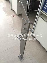 广西项目不锈钢工程立柱厂家316不锈钢护栏立柱侧面也光滑细腻图片