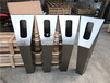 長沙酒店門禁造型立柱圖片款式多多的不銹鋼門口機立柱定制