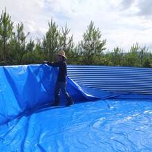 水产养殖帆布鱼池虾池镀锌板支架图片