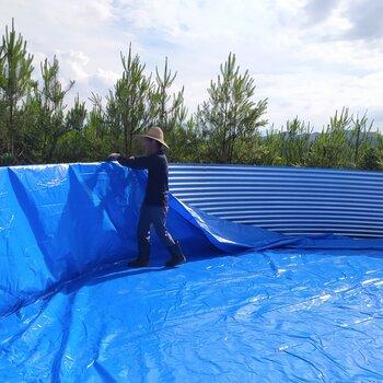水產養殖帆布魚池蝦池鍍鋅板支架