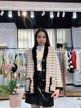 萨曼莎19年新款雪尼尔开衫品牌折扣女装货源图片