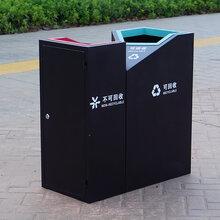 新款户外垃圾桶双桶学校分类果皮箱室外四分类环卫垃圾筒公园景区
