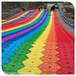 我們的游樂時光彩虹滑道建設彩虹滑道花海設計大型彩虹滑梯