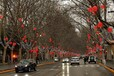 春節路燈裝飾燈桿裝飾中國結紅燈籠
