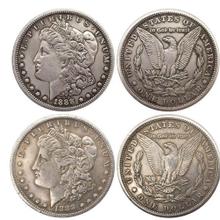 自由女神贸易银币鹰洋币图片