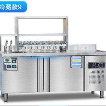 郑州冰冬商橱奶茶工作台水?#21830;?#24615;价比高图片