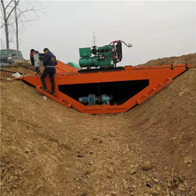 水渠成型機現場澆筑混凝土路肩一次成型機渠道成型機圖片