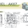 臺灣利明牌螺旋錐齒輪減速機AK37標準型