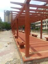 湖北专业从事仿木长廊施工施工公司图片