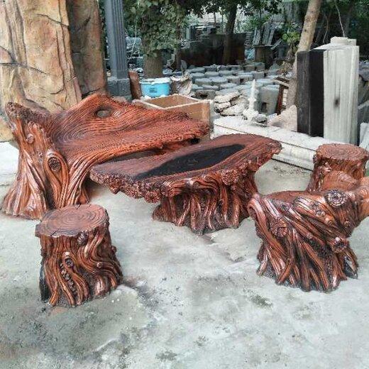 仿木座椅图