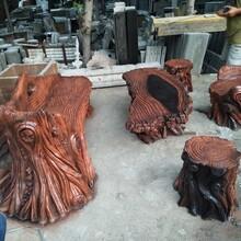 山东专业承接仿木座椅施工施工团队图片