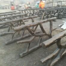 黑龙江仿树藤护栏安装工程施工报价图片