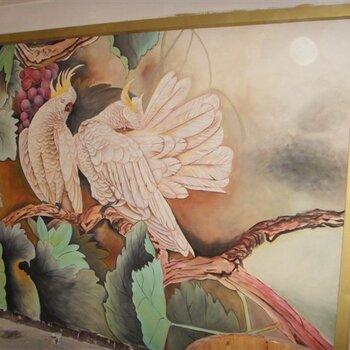 餐厅墙画、酒店墙绘、火锅店彩绘、咖啡店涂鸦