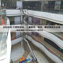 深圳购物中心不锈钢滑梯-大型螺旋滑梯定制安装