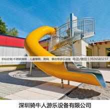 深圳主题公园滑梯-网红不锈钢滑梯制造,骑牛人游乐设备厂