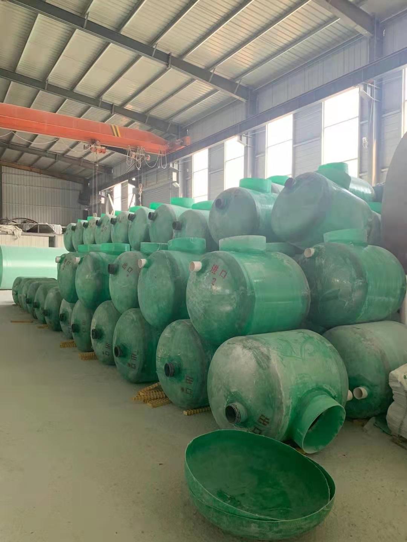 防城港城市排污化粪池罐玻璃钢模压式隔油池
