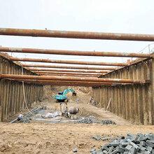 江西南昌钢板桩工程钢板桩施工图片