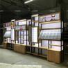 福建厦门定制眼镜展示柜眼镜店货架铁艺免漆板展示柜木纹免漆中岛