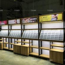 定制眼镜展示柜眼镜店货架安徽铁艺免漆板柜台钢木结合图片