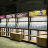 高端时尚店面天津河东木纹免漆眼镜柜眼镜陈列展示柜钢木结合货架