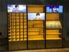 漳州定制生态板眼镜柜销售台铁木结合中岛柜货架
