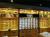 文圣區木制眼鏡陳列架鋼木結合眼鏡展示柜遼陽創意眼鏡展示盒