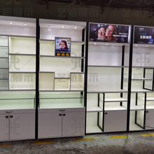 依视路眼镜展示柜上饶信州眼镜陈列高柜钛合金玻璃矮柜样式图片