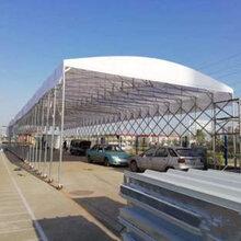 仓库挡雨棚伸缩式帐篷大型工地收拉推拉蓬