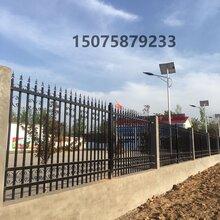 精品热销小区铁艺护栏锌钢护栏学校厂区隔离栏金属围墙锌钢护栏